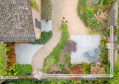 Bovenaanzicht tuin
